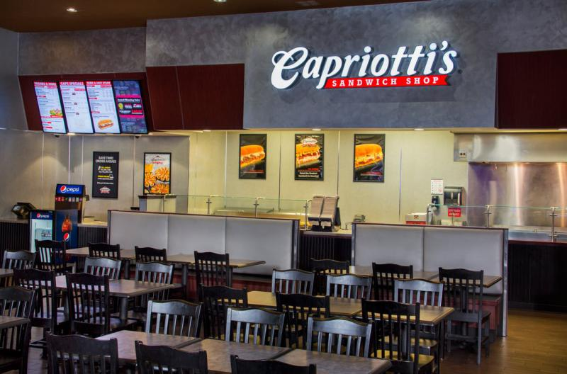 Capriotti's Sandwich Shop Counter and Seating